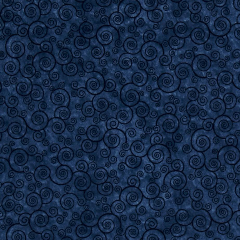 Harmony Flannel Curly Scroll Slate Blue Fabric