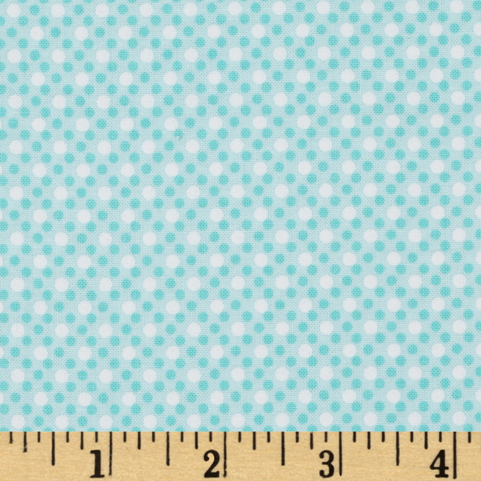 Michael Miller Dim Dots Aqua Fabric