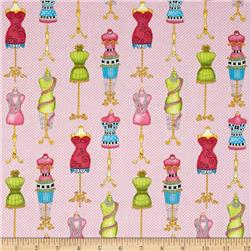 Cute As a Button Dress Forms Pink