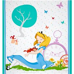 Disney Alice Tea Time Panel Yellow