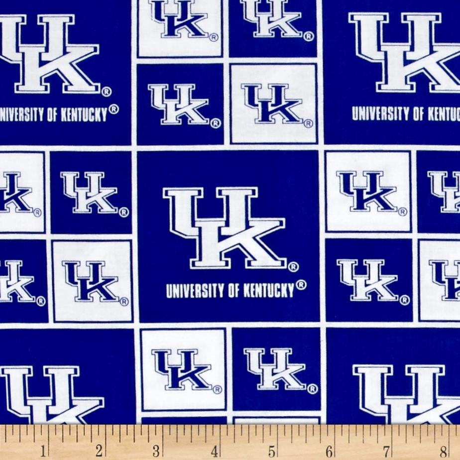 Collegiate Cotton Broadcloth University of Kentucky Wildcats