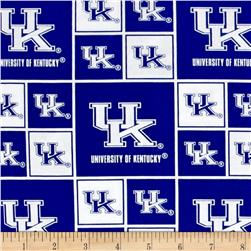 Collegiate Cotton Broadcloth University of Kentucky Wildcats Blocks