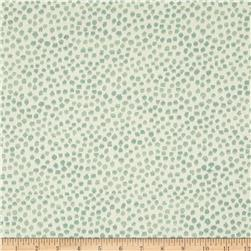 KasLen Drizzle Dots Jacquard Teal Fabric