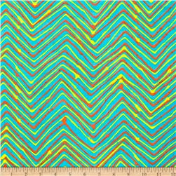 Moda Simple Marks Summer Trails Chevron Turquoise