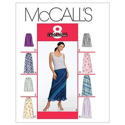 McCall's Misses' Pull-On Bias Skirt In Two Lengths Pattern M2255 Size 0A0