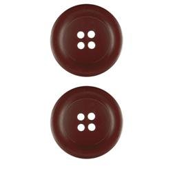 Riley Blake Sew Together 1 1/2'' Matte Round Button Brown