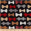 Fox and The Houndstooth Bowties Black