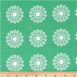 Windham Modern Country Lace Medallion  Mint