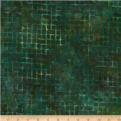 Artisan Batiks Elementals Boxed In Plaid Green