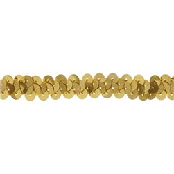 "3/8"" Stretch Metallic Sequin Trim Gold"