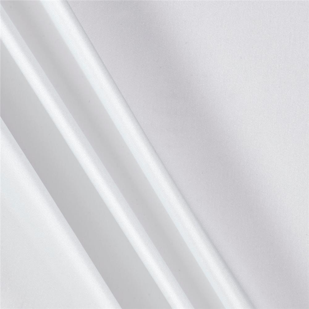 Charmeuse Satin Solid White Fabric By The Yard