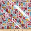 Robert Kaufman Slicker Mini Owls Sorbet