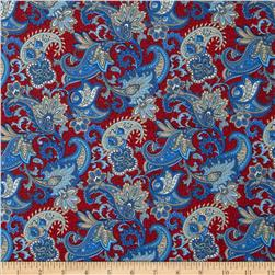 Summer Festival Paisley Red