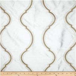 KasLen Embroidered Metallic Mica Ecru