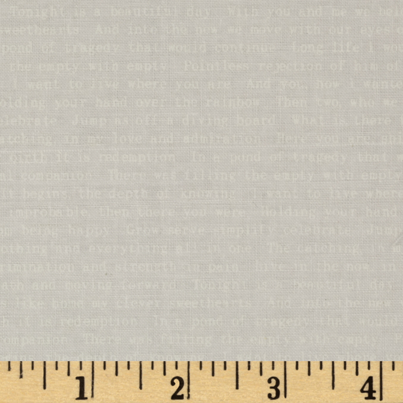 Sunprint Text White/ White Fabric