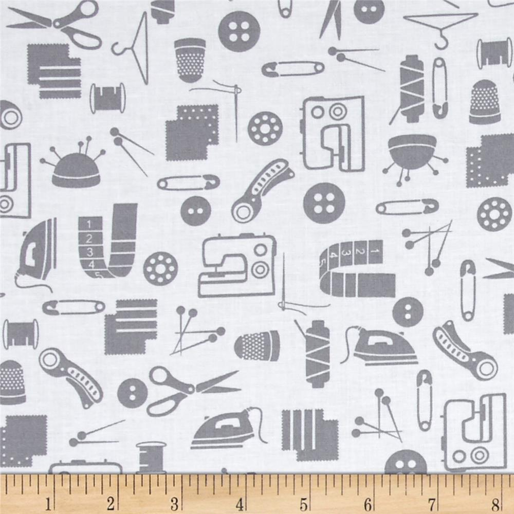 Small Talk Sewing Accessories Gray