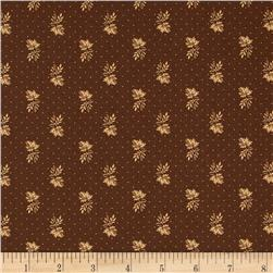 Moda Collection for a Cause Mill Book Little Leaves Walnut Brown