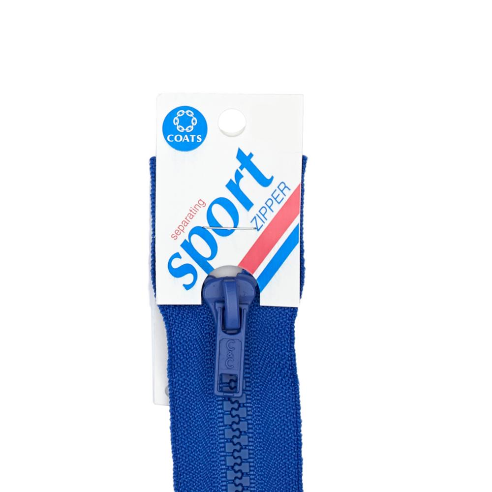 Coats & Clark Sport Separating Zipper 28'' Bluebird