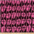 Designer Stretch Jersey Knit Kites Hot Pink/Black