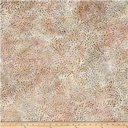 Wilmington Batik Curling Leaves Little Brown/Pink