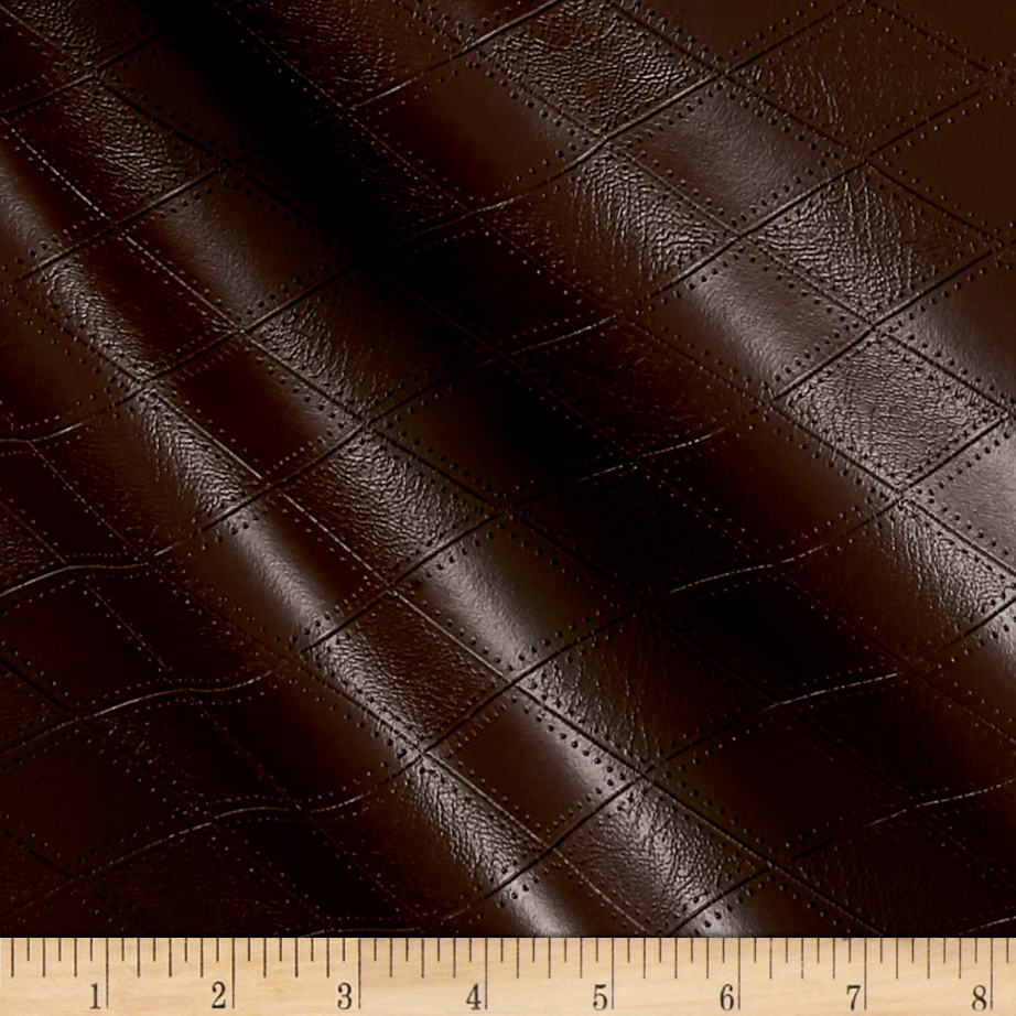Richloom Tough Faux Leather Hovland Chocolate Fabric by TNT in USA