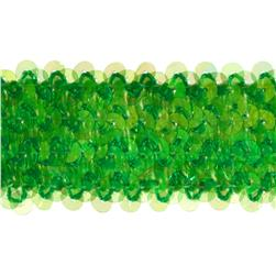 1-1/2'' Metallic Stretch Sequin Trim Aurora Borealis