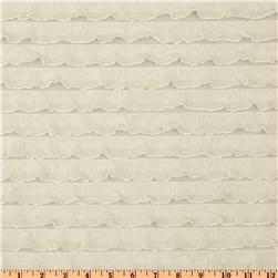 Stretch Ruffle Knit Ivory Fabric