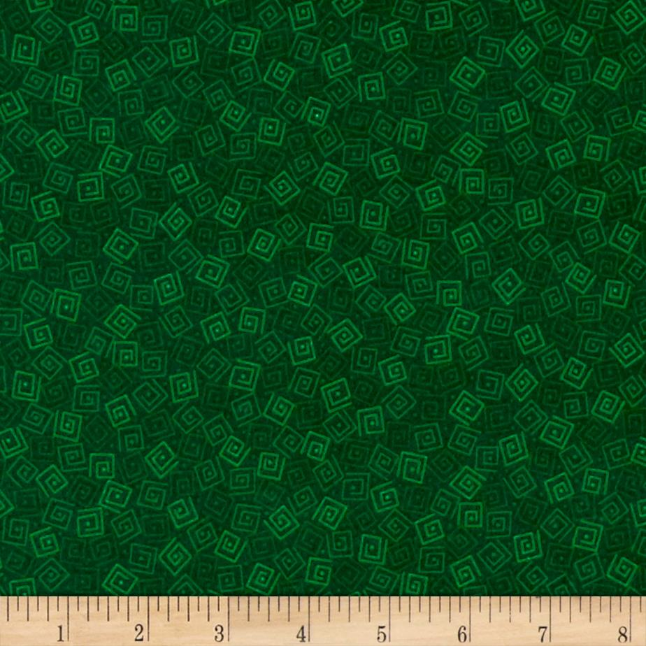 Harmony Flannel Squares Jungle Green