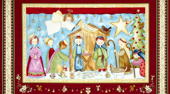 Oh Holy Night Panel Red