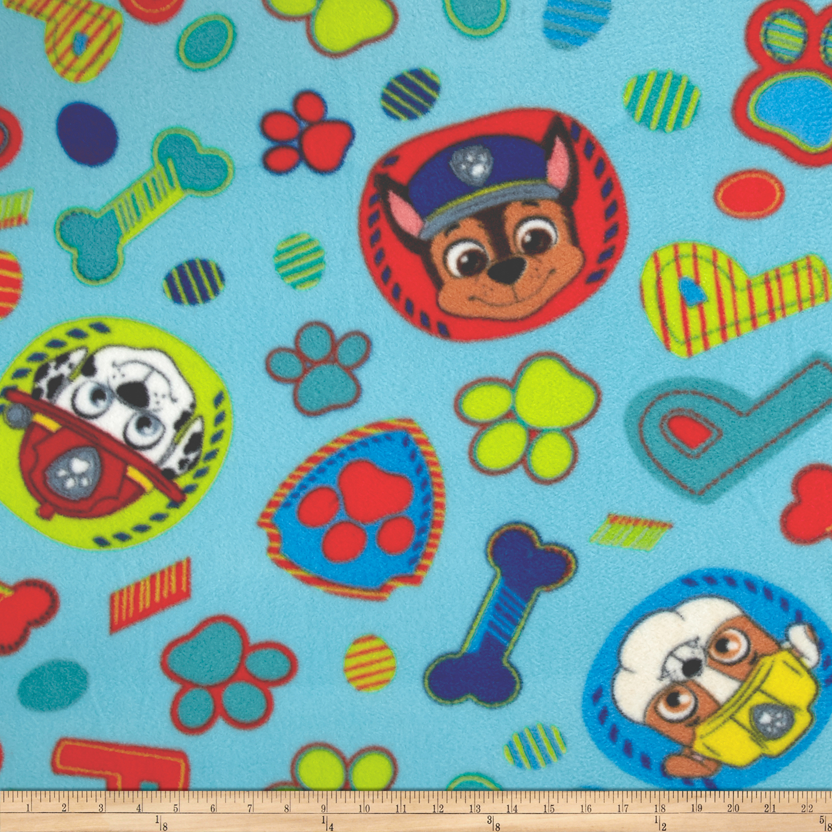 Nickelodeon Paw Patrol Pupstastic Dream Fleece Blue Fabric