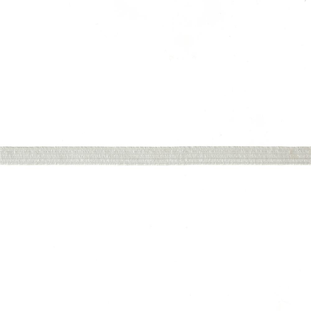 "1/4"" Braided Elastic White- By the Yard"