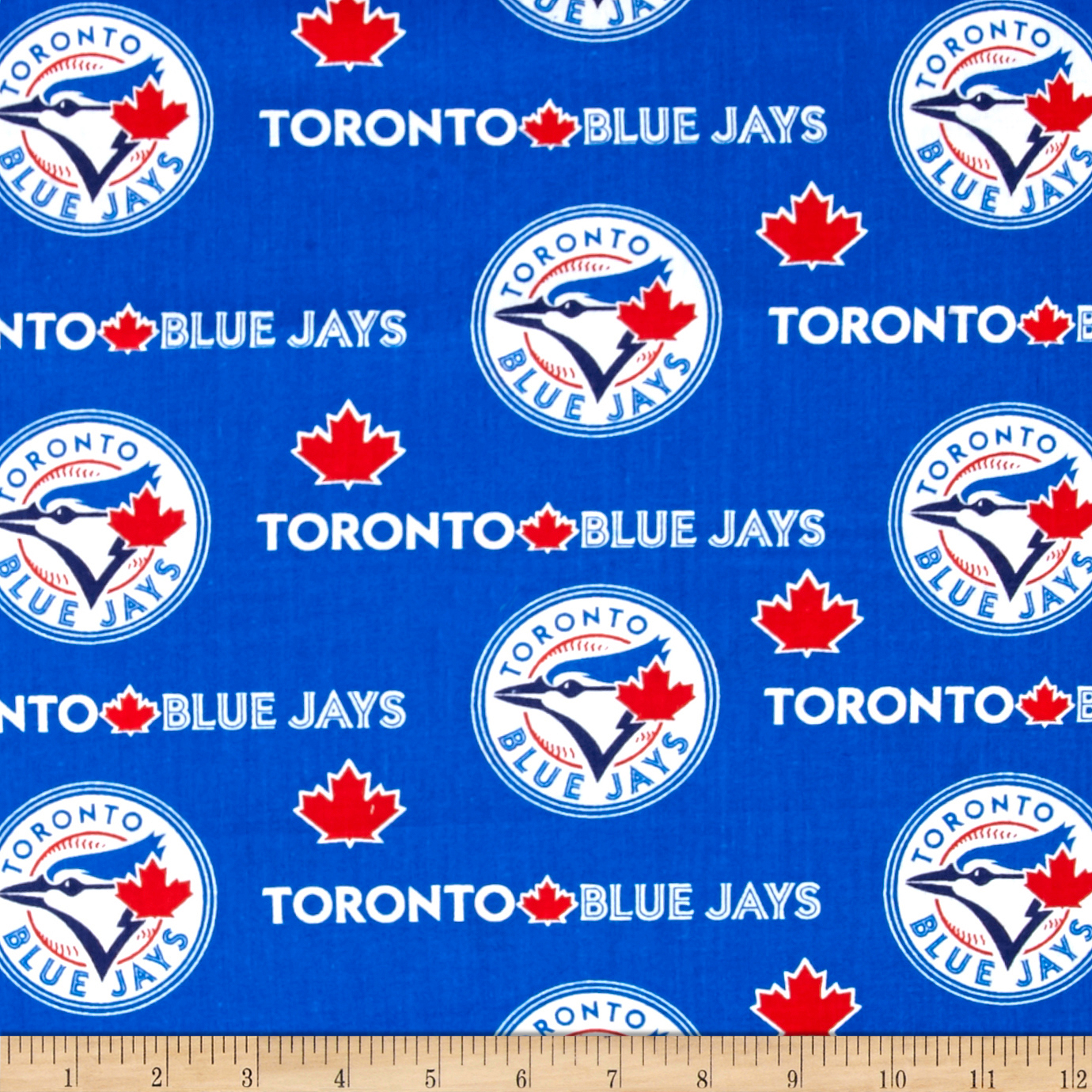 Toronto Blue Jays Cotton Broadcloth Blue Fabric by Fabric Traditions in USA