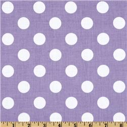 Riley Blake Dots Medium Lavender Fabric