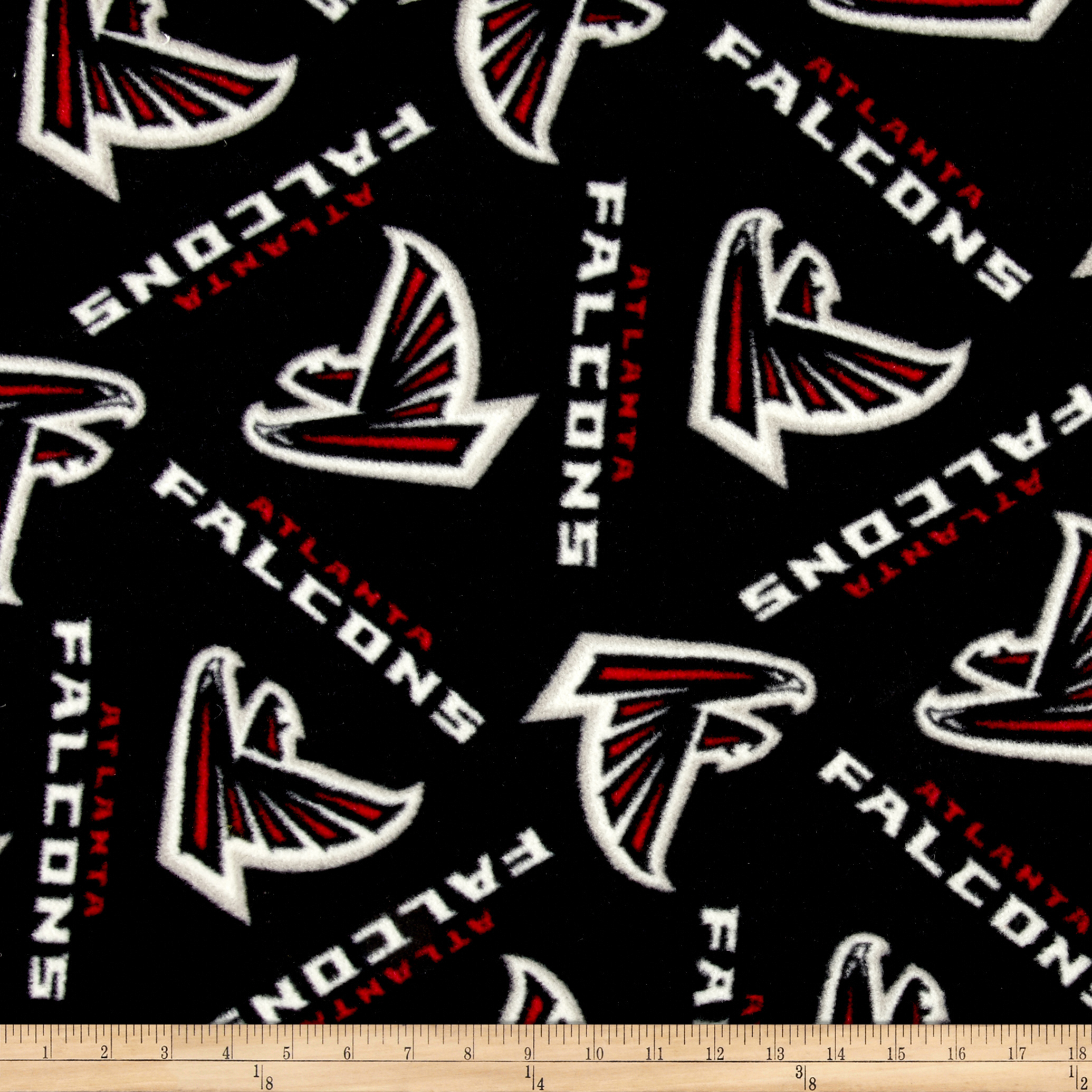 NFL Fleece Atlanta Falcons Black/Red Fabric