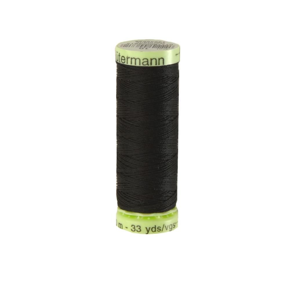 Gutermann Heavy Duty Polyester Topstitching Thread 30m/33yds Black
