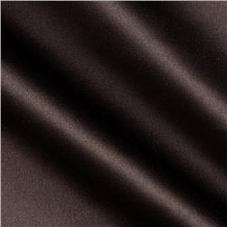 Stretch Satin Twill Solid Chocolate Brown