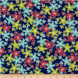 Moda Hometown Girl Stitched Garden True Blue