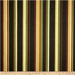 Maco Indoor/Outdoor Spencerport Stripe Coal Fabric
