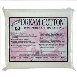 "Quilter's Dream Natural Cotton White Select Batting (93"" x 72"") Twin"