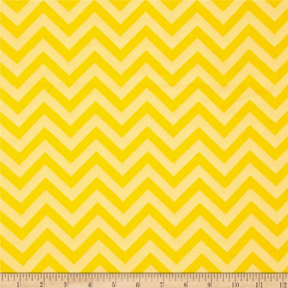 Flannel Chevron Yellow Fabric By The Yard