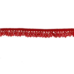 "Riley Blake Sew Together 1/2"" Elastic Crocheted Lace Red"