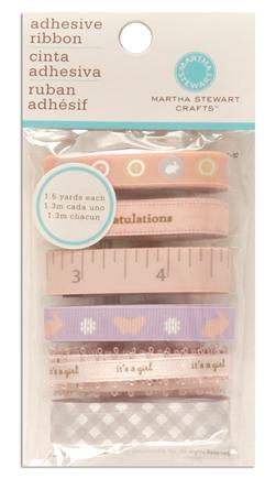 Martha Stewart Crafts Adhesive Ribbon Tape Girl Pink/Purple