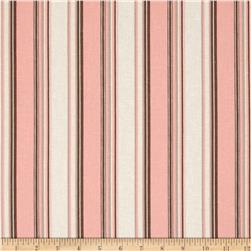 Linen/Cotton Blend Folly Stripe Coral Sand Fabric