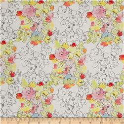 Happy Meadows Small Floral White