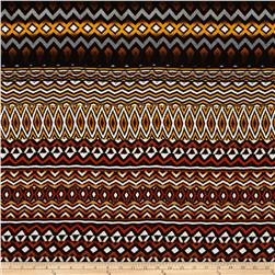 Rayon Challis Aztec Rust/Orange