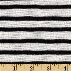 Designer Stripe Hatchi Knit Black/Off White Fabric