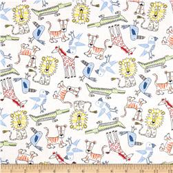 Child's Play Zoo Animals Multi/White Fabric