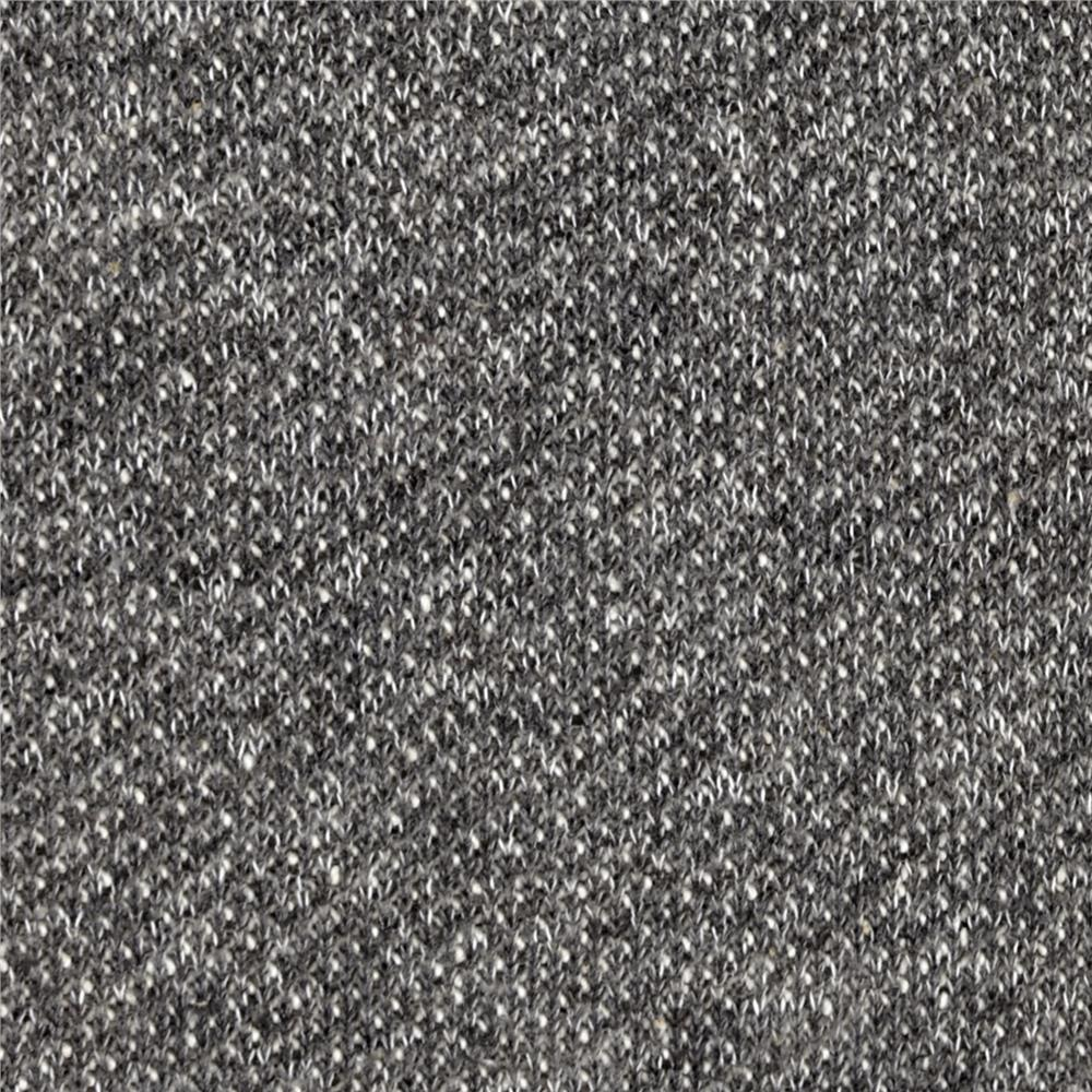 Fishscale French Terry Knit Heather Grey