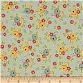 Riley Blake Sidewalks Small Floral Teal
