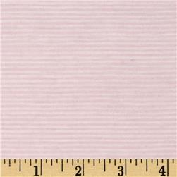 Yarn Dyed Jersey Knit Mini Stripe Pink